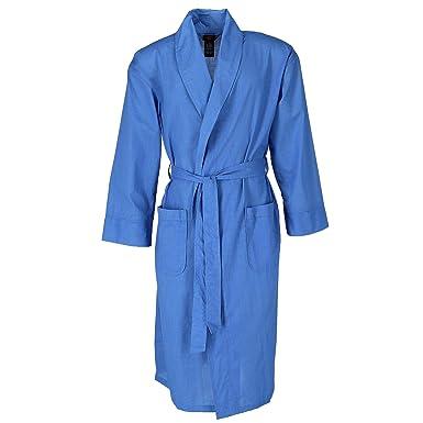 da42bb3ad7 Amazon.com  Hanes Men s Lightweight Woven Broadcloth Robe  Clothing