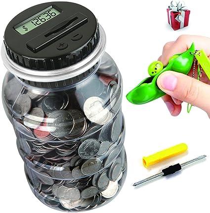Children Kids Piggy Bank LCD Digital Coin Counting Money Saving Jar Dollar