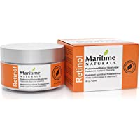 Canada's Premium Retinol Moisturizer for Face -HUGE 120ml - Hyaluronic acid and vitamin A - super anti aging skin cream – Professional Grade-Cruelty Free - Organic-Face Lift in a Jar By Maritime Naturals