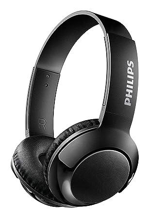 Philips BASS+ SHB3175BK - Auriculares Bluetooth Inalámbricos (Bluetooth con Micrófono, Aislantes de Ruido,