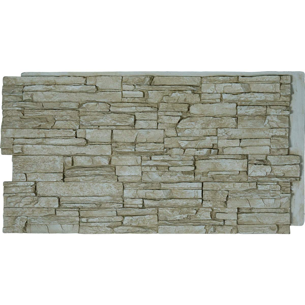 Ekena Millwork PNU24X48CNSR Canyon Ridge Stacked Stone Stonewall Faux Stone Siding Panel 48W x 24H x 1 1//4D Smokey Ridge 1 EA