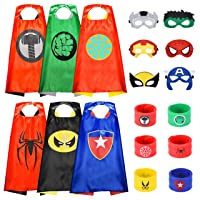 Superhero Capes for Kids Dress up Capes Costumes and Mask with Bracelet