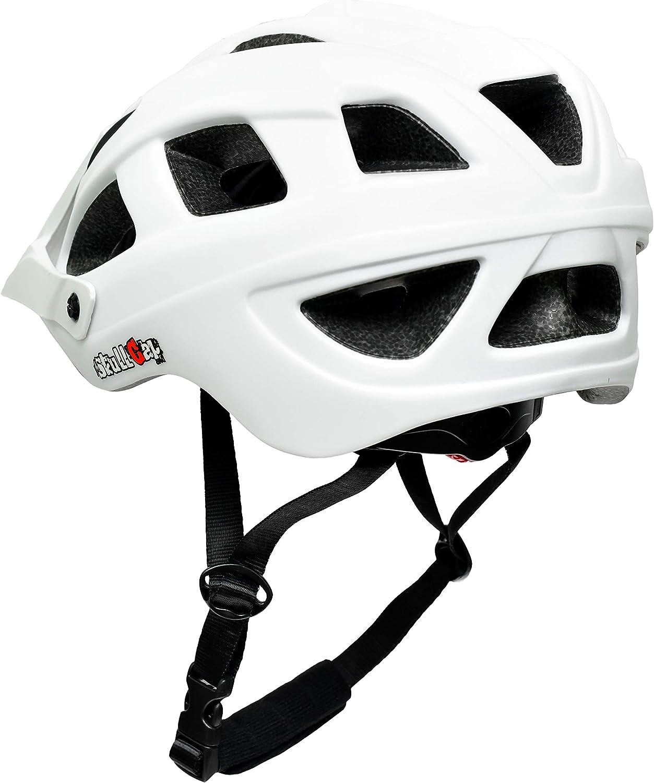 Uomo e Donna SkullCap/® Casco Bici MTB con Visiero