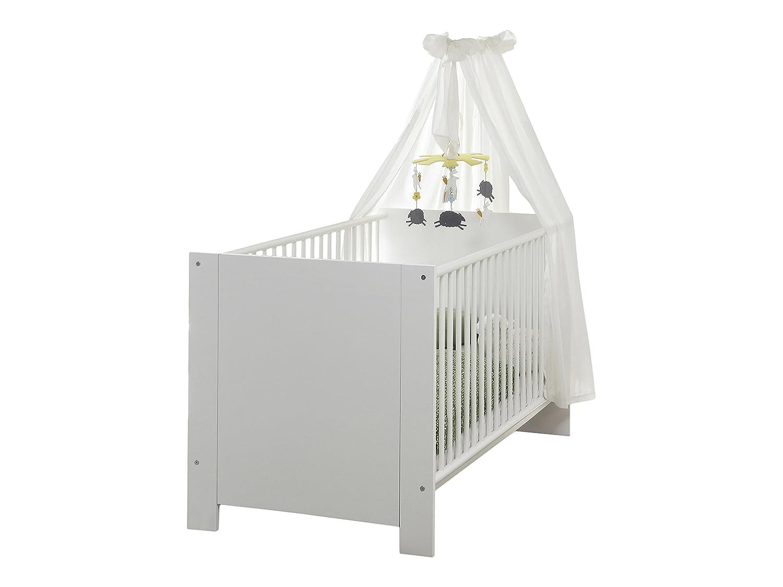 Babyzimmer set buche  trendteam BZO60501 Babyzimmer Komplett Set 3-tlg. weiss: Amazon.de ...