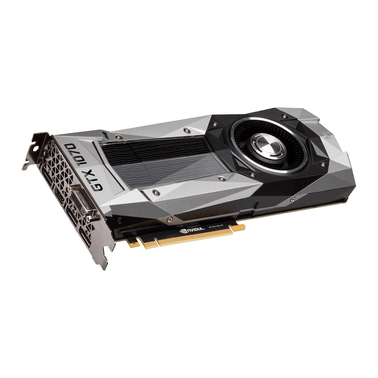 EVGA Nvidia GTX 1070 Founders Edition 8Gb GDDR5 1683mhz Boost, 1506Mhz Base, DP, HDMI, DL DVI PCI E Tarjeta gráfica