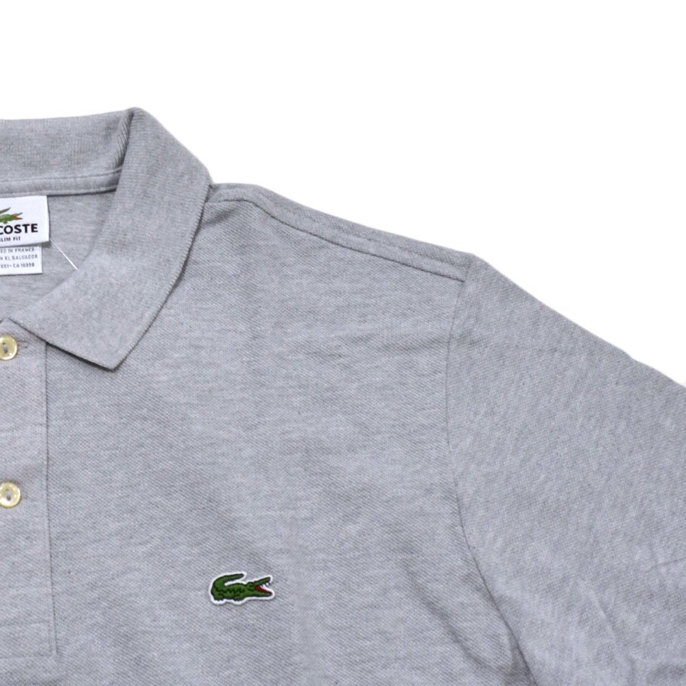 Silver Chine, Large // EUR 6 Lacoste Mens Slim Fit Mesh Polo Shirt