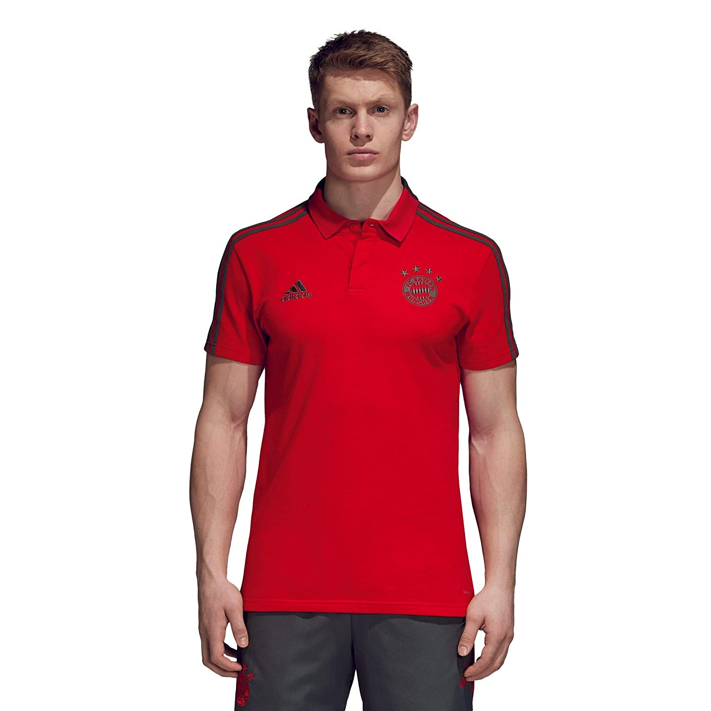 f8599fd55a2ff adidas 2018-2019 Bayern Munich Training Polo Shirt (Red)  Amazon.co.uk   Sports   Outdoors