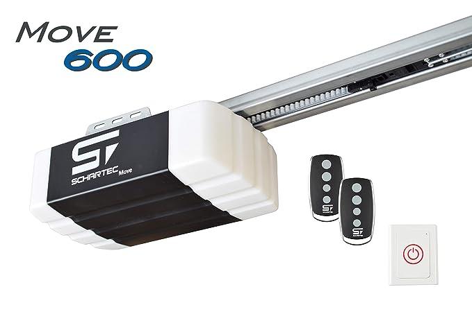 Schartec Move 600 Garagentorantrieb Serie 2 Set inkl. 2 Handsender und Schiene - elektrischer Torantrieb - Garagentoröffner f