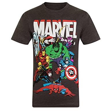 1d94ce47cc Marvel Comics Official Gift Boys Kids Character T-Shirt Hulk Iron Man Thor   Amazon.co.uk  Clothing