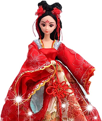 Amazon Com Panda Superstore Wu Hou Doll Dress Doll Gorgeous China Doll Ball Jointed Doll For Girls Toys Games