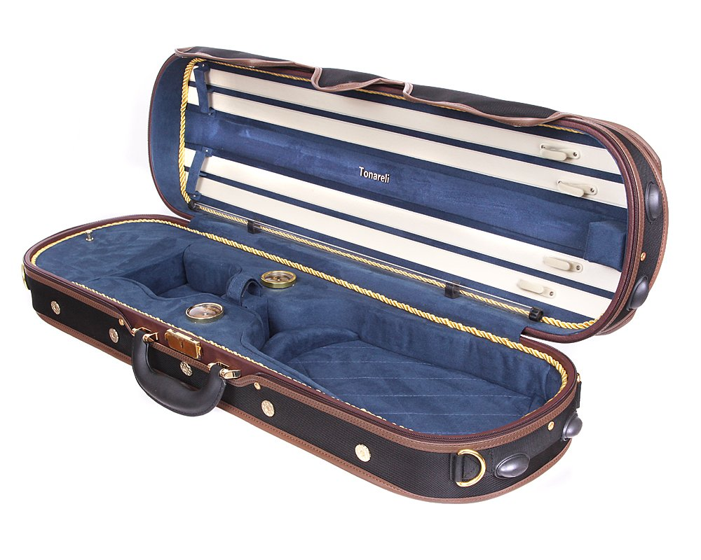 Tonareli Deluxe Violin Case - 4/4 Blue - VNDLUX1002