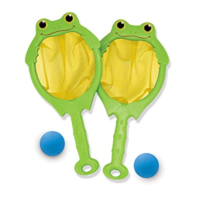 Melissa & Doug Sunny Patch Froggy Toss and Catch Net Game With 2 Balls: Melissa & Doug: Toys & Games