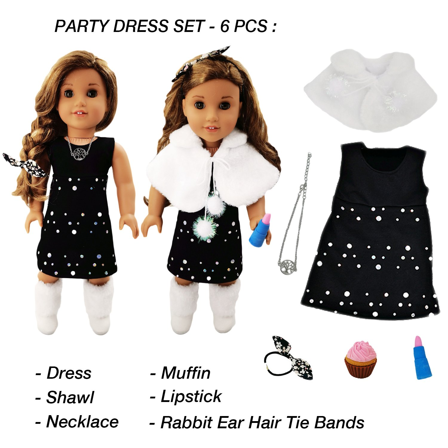 Amazon 33 Piece American Girl Doll Accessories 18 inch Doll
