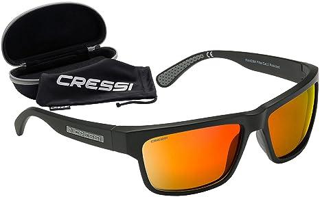 Unisex Specchio lente di plastica degli occhiali da sole di sport Arancione Nero y9r3lTB
