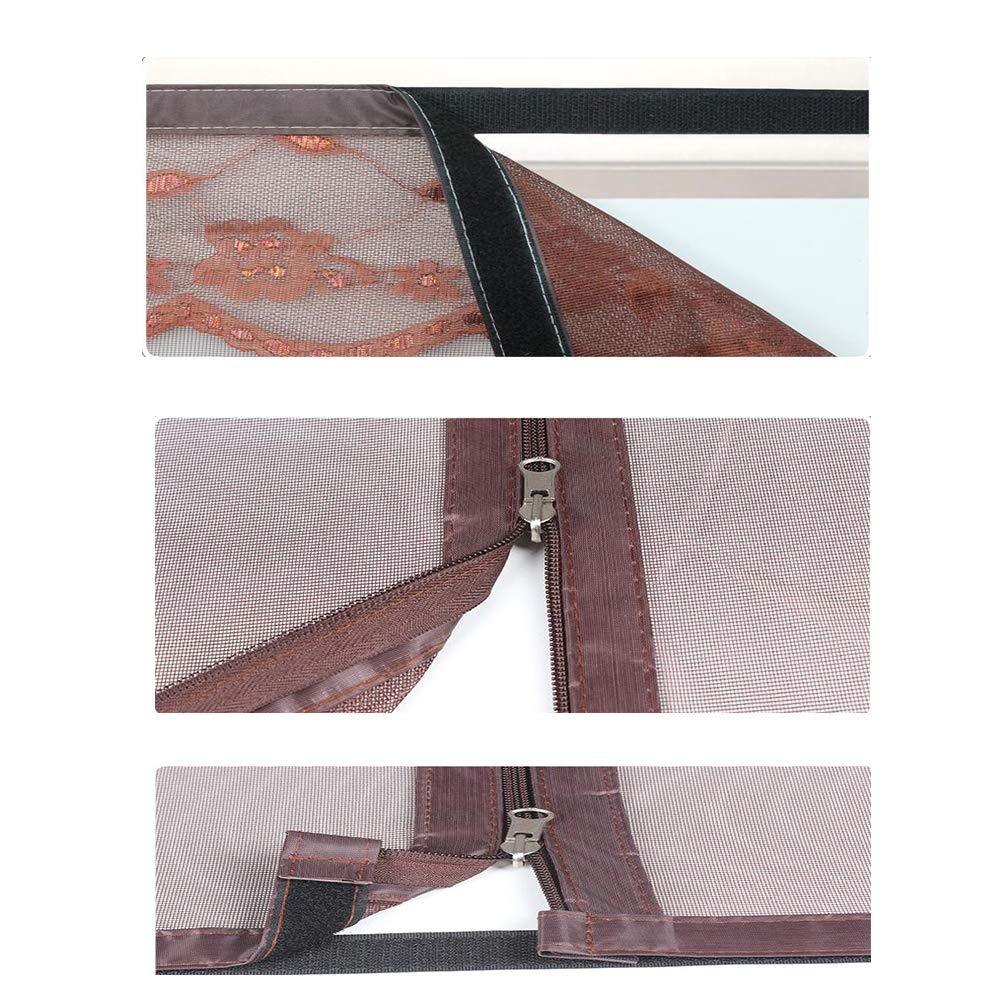WYDMScreen Magn/étique Moustiquaire R/églable Maille D/'/écran Fen/être Amovible Remplacement De La Fen/être /ét/é Mesh Rideau Net-a 47x59inch 120x150cm