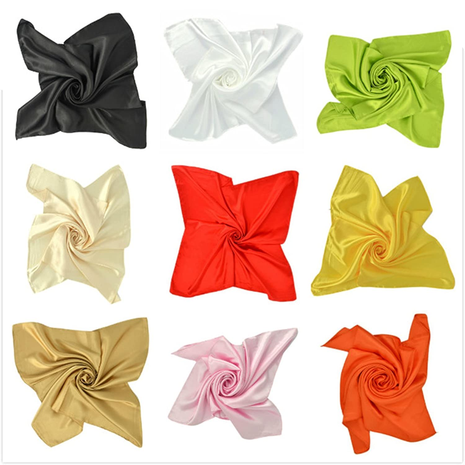 Women's and Men's Four Seasons Apparel Accessories Silk Foulards Square Scarf