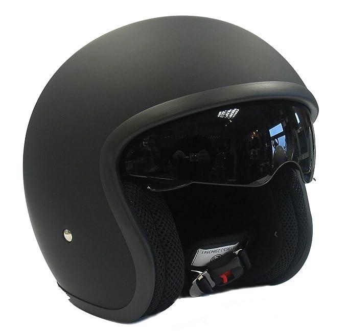Viper RS-V06 Open Face Motorcycle Helmet Matt Black Star