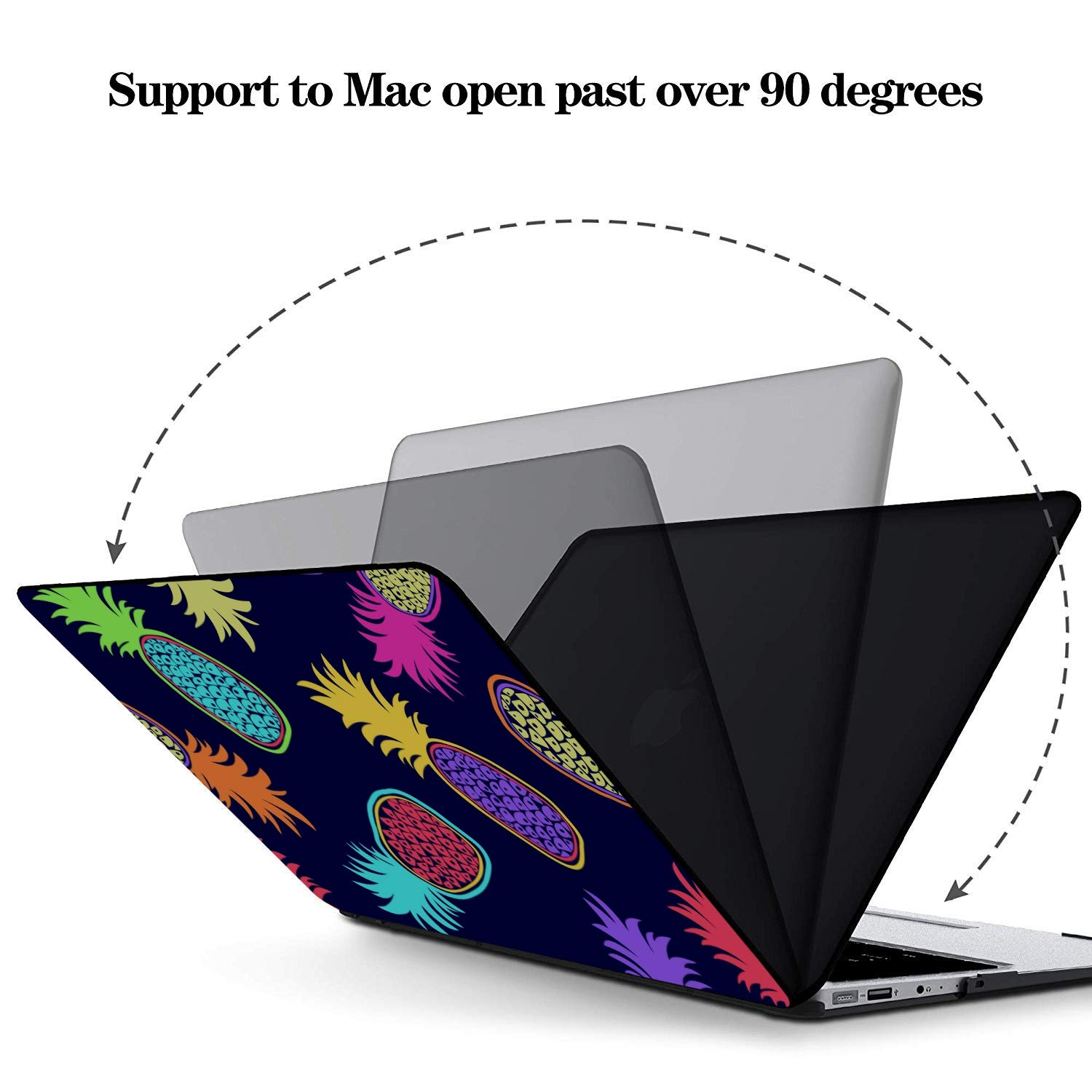 MacBook Air Laptop Case Summer Sweet Fresh Fruit Pineapple Plastic Hard Shell Compatible Mac Air 11 Pro 13 15 Case MacBook Pro Protection for MacBook 2016-2019 Version