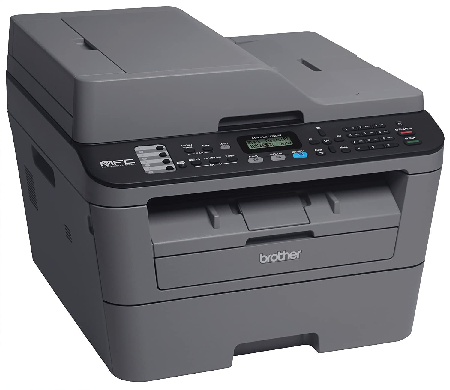 Color printing vs black and white cost - Amazon Com Brother Mfcl2700dw Compact Laser All In One Printer With Wireless Networking And Duplex Printing Electronics