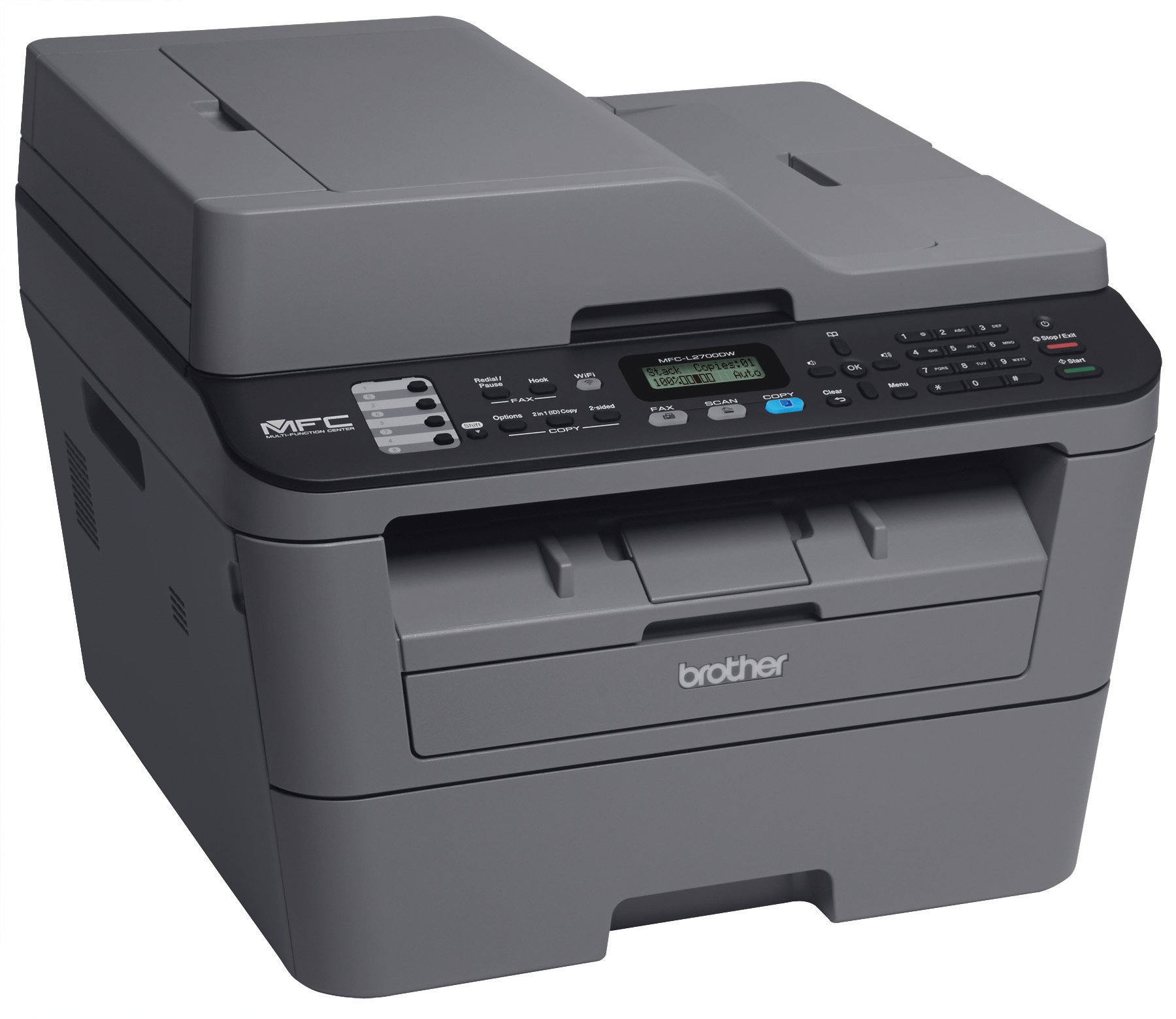 Brother MFCL2700DW All-In One Laser Printer with Wireless Networking and Duplex Printing, Amazon Dash Replenishment Enabled by Brother (Image #3)