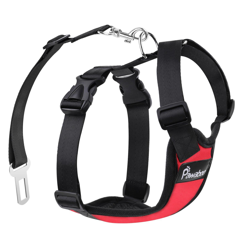 Pawaboo Dog Safety Vest Harness Pet Dog Adjustable Car ...