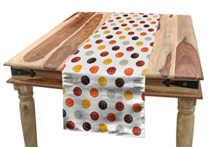 amazon com ambesonne basketball table runner ball pattern in rh amazon com