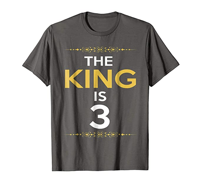 Mens Kings Is 3 Years Old 3rd Birthday Gift Ideas For Him Boy 2XL
