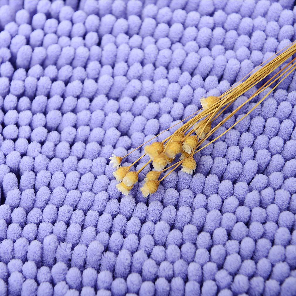 Tappeto da Bagno Doccia Tappeti da Bagno in Microfibra Addensare Pahajim Lussuoso Tappeto Bagno Antiscivolo in Ciniglia Champagne