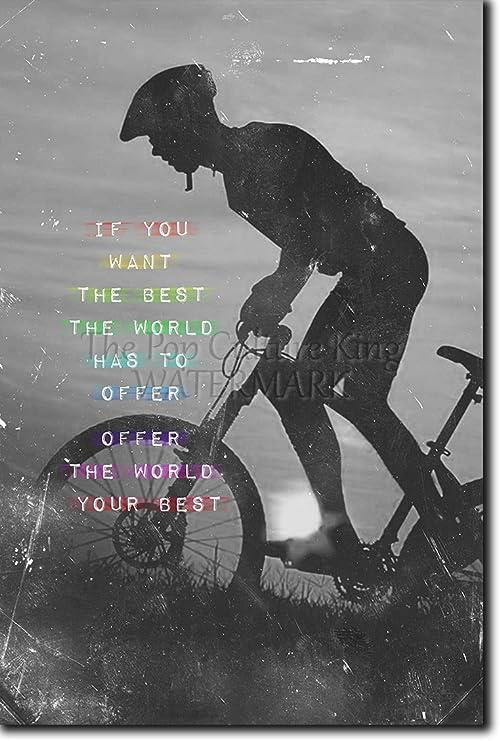 Póster de motivación con imagen de ciclismo 03