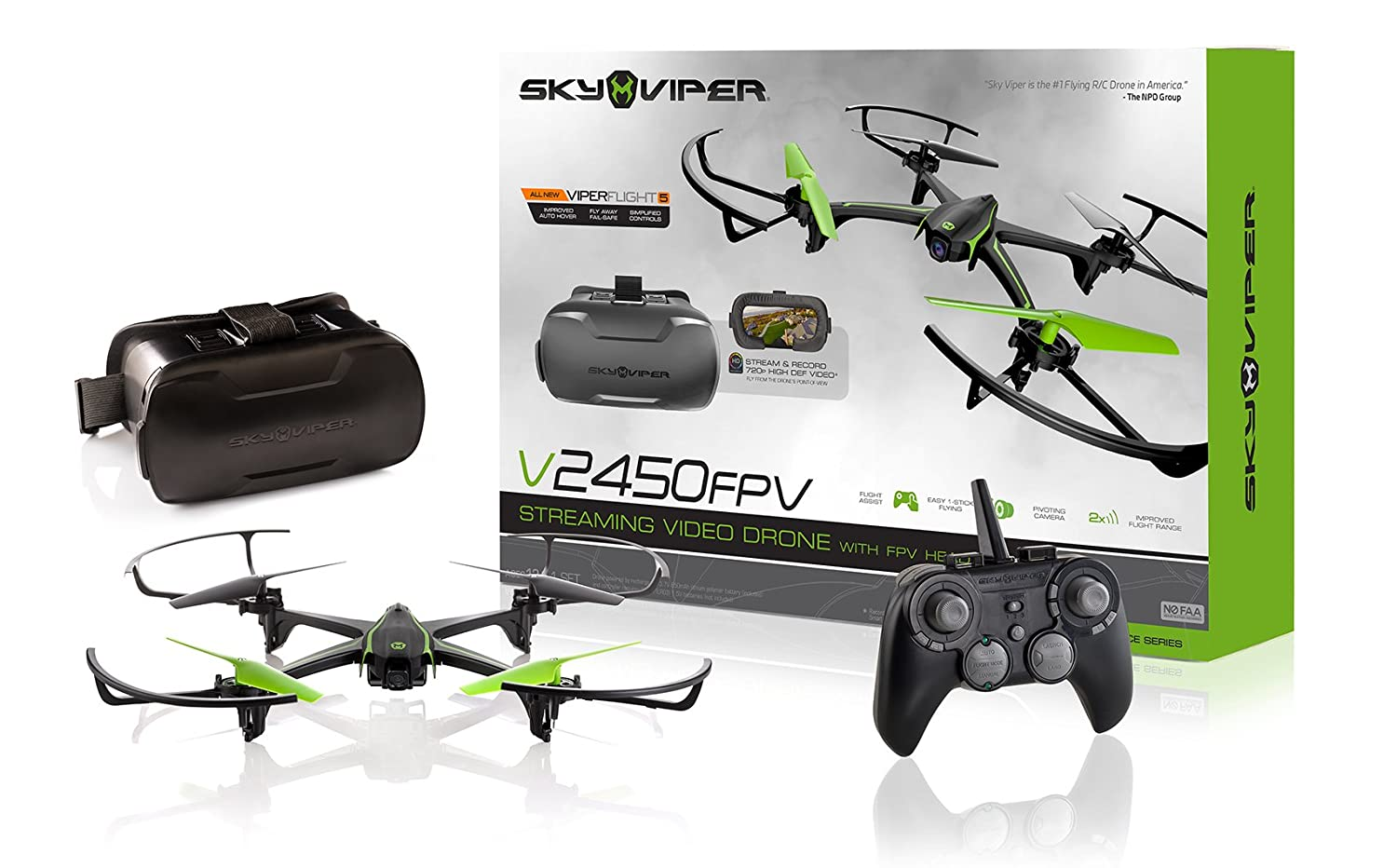 Amazon.com: Sky Viper v2450FPV Streaming Drone with Fpv Goggles ...