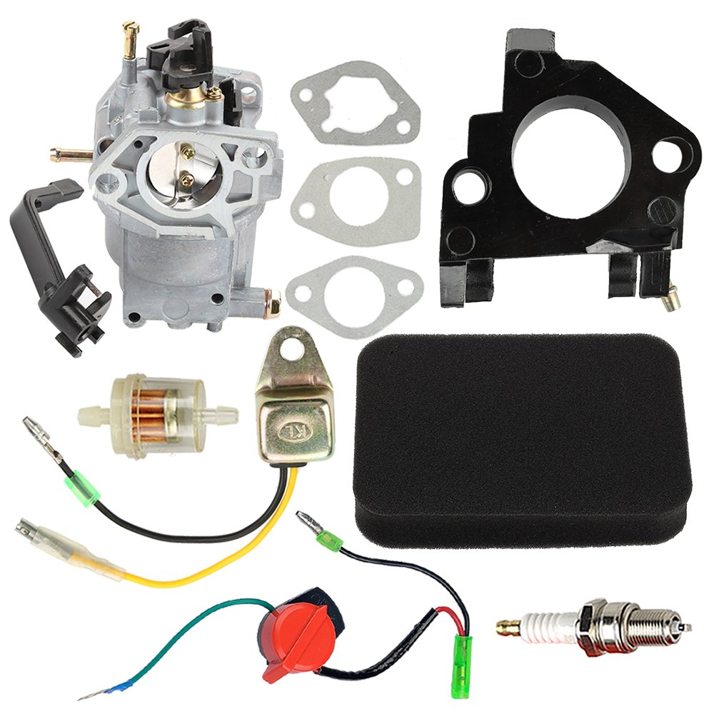 Hilom 0J58620157 Carburetor with Air Filter Insulator Oil Sensor for  Generac GP5500 GP6500 GP6500E GP7500E 8125W Jingke Huayi Kinzo Ruixing 13HP  14HP