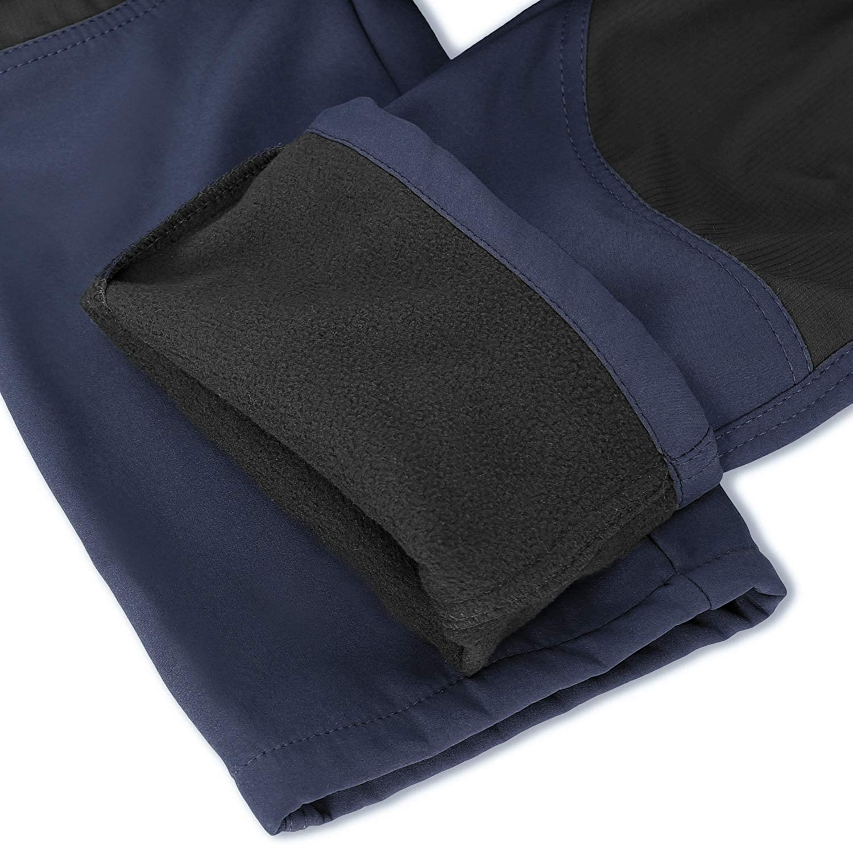 SANMIO Pantalones de Hombre a Prueba de Viento Transpirables Impermeables C/álidos Pantalones de Invierno con Forro El/ástico Pantalones Exteriores de Trekking Engrosados con Cintur/ón