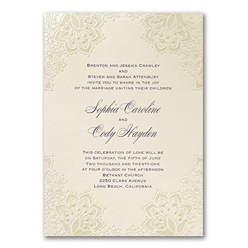 Amazon Com 750pk Lace Shimmers Invitation Shop All