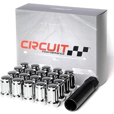 "Circuit Performance Spline Drive Tuner Acorn Lug Nuts Chrome 1/2x20 1/2"" Forged Steel (20pc + Tool): Automotive"
