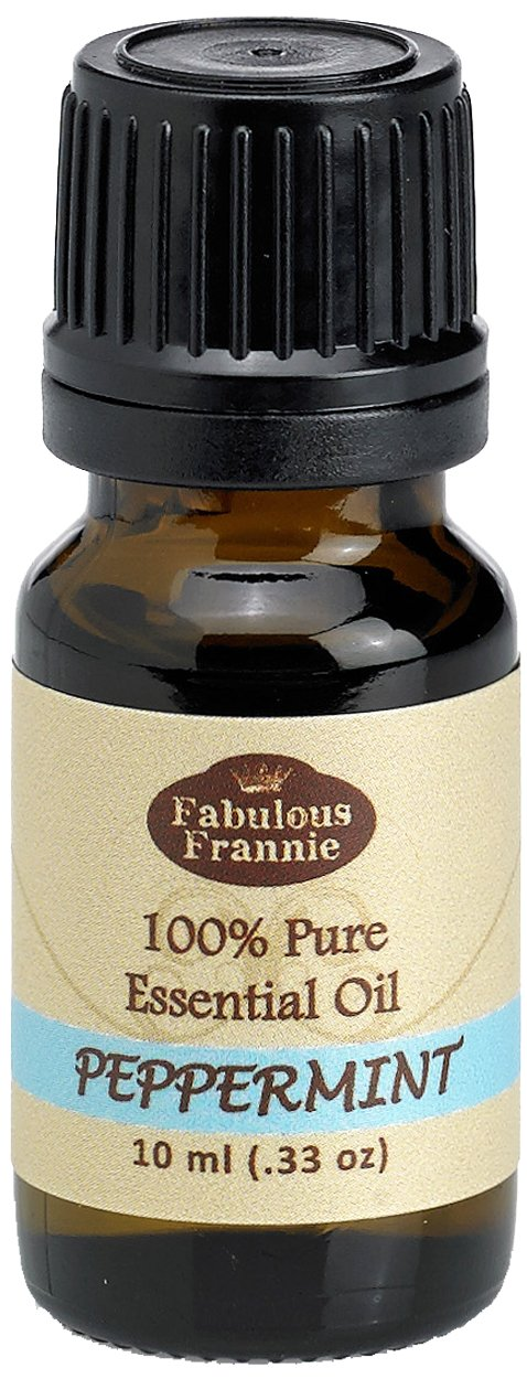 Fabulous Frannie Peppermint 100% Pure, Undiluted Essential Oil Therapeutic Grade - 10 ml. Great for Aromatherapy!