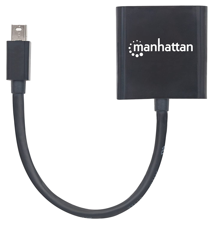 Manhattan 152549 Aktiver Mini-DisplayPort-Stecker auf DVI-I Dual-Link-Buchse schwarz