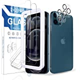 Arae 2 Pack Camera Lens Protector for iPhone 12 Pro Max + 2 Pack Screen Protector, HD Tempered Glass Anti Scratch Work with M