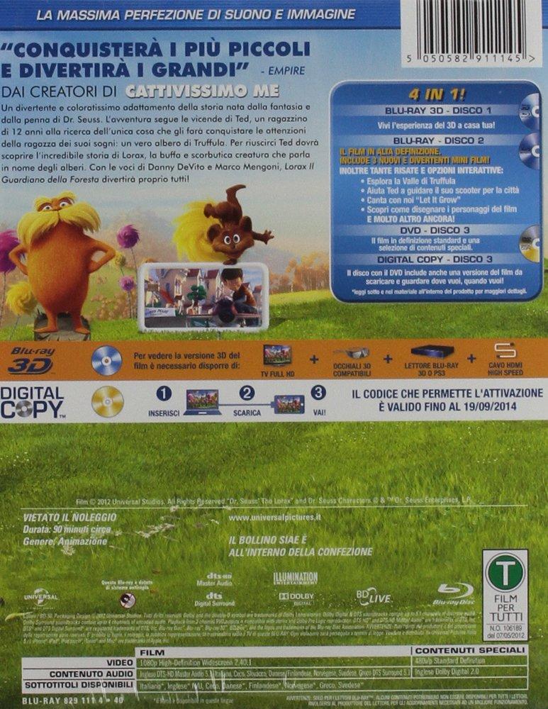 Amazon.com: The Lorax - Il Guardiano Della Foresta (Blu-Ray 3D+Blu-Ray+Dvd+Digital Copy) [Italian Edition]: chris renaud: Movies & TV