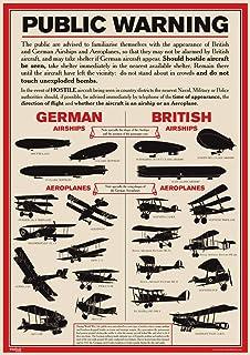 World War 2 A3 Poster British Allied German Army Tanks Identification WW2 WW1