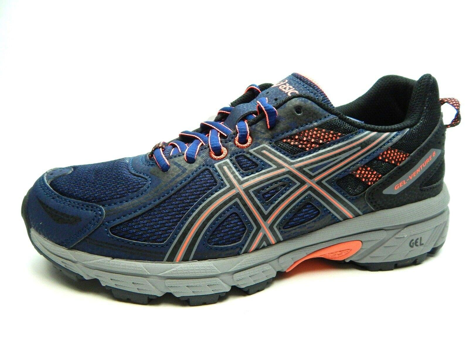 ASICS Women's Gel-Venture 6 Running-Shoes, Indigo Blue/Black/Coral, 9 by ASICS