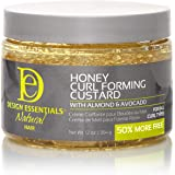 Design Essentials Natural Honey Curl Forming Custard infused with Almond, Avocado, Honey & Chamomile for Intense Shine, Mediu