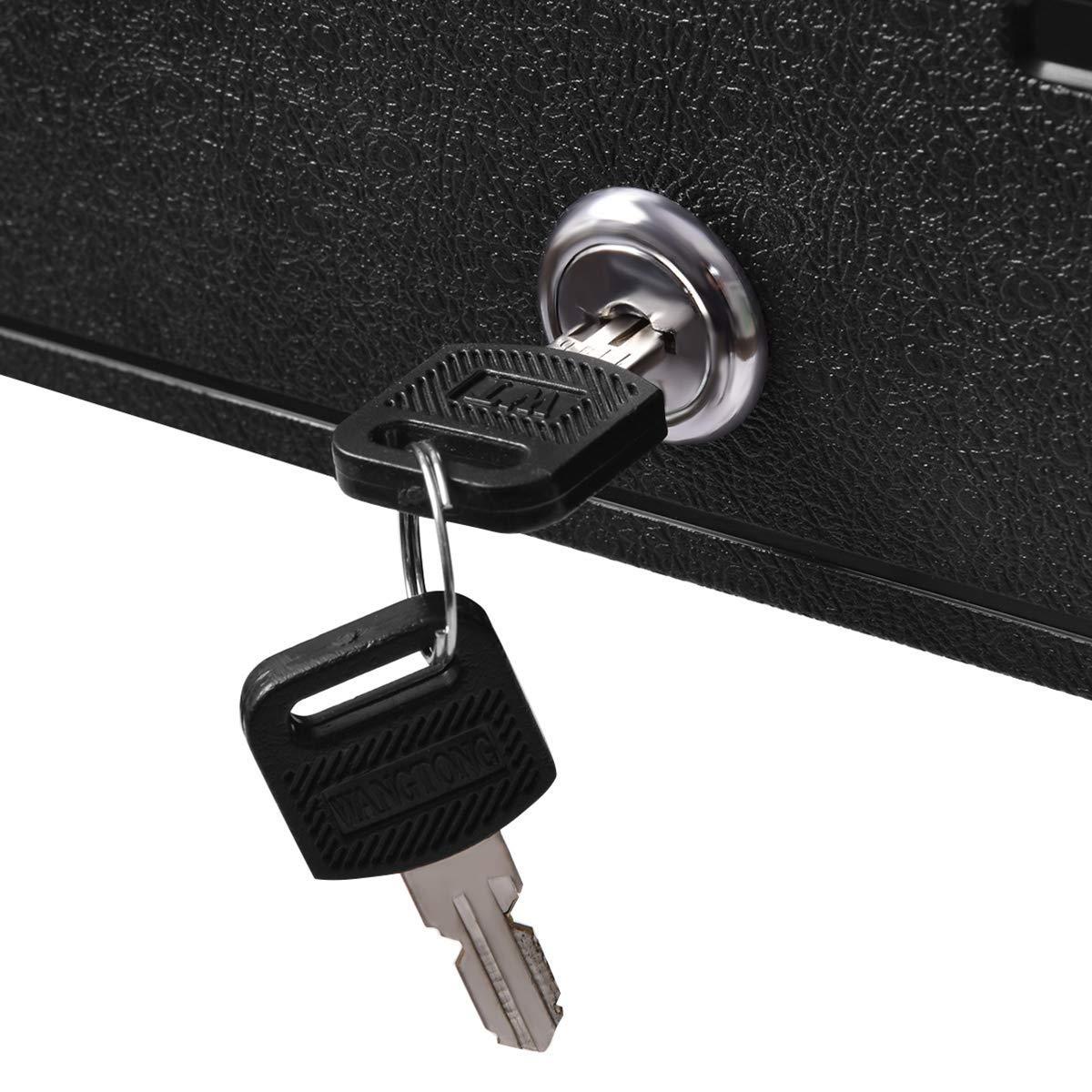 COSTWAY Caja de Efectivo con Llave Seguridad Bandeja de ...