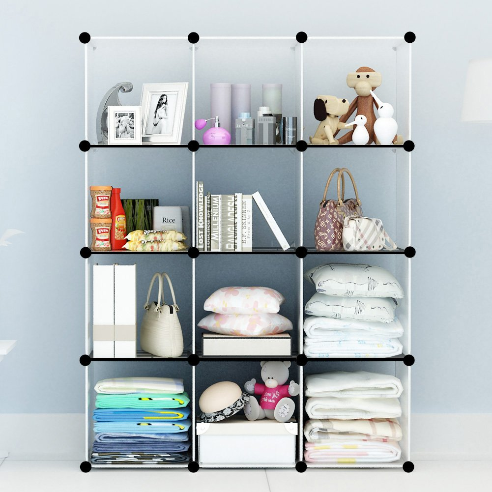 Amazon.com: KOUSI Portable Storage Shelf Cube Shelving Bookcase ...