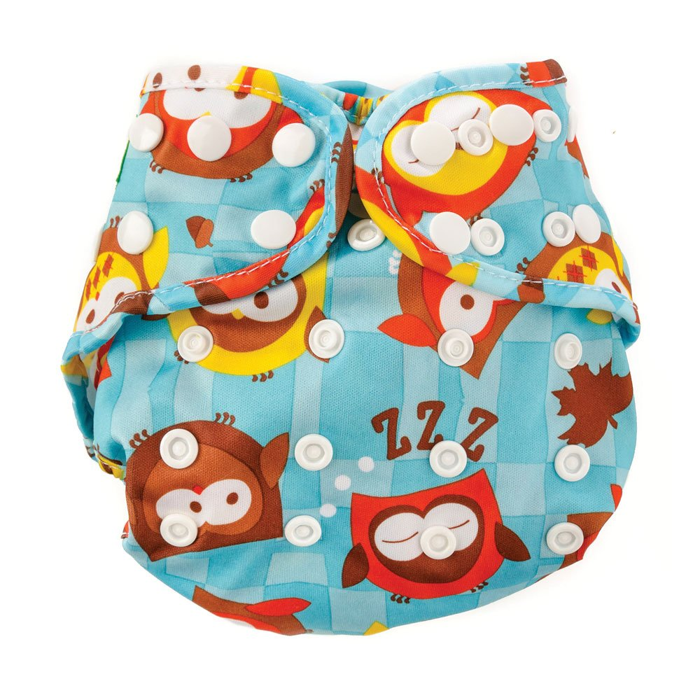 Bumkins Cloth Diaper Cover, Blue Owl, One Size ECS-240-OS bmk-012-0014
