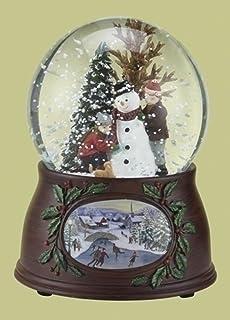 5 5 Musical Revolving Kids And Snowman Christmas Snow Globe Glitterdome