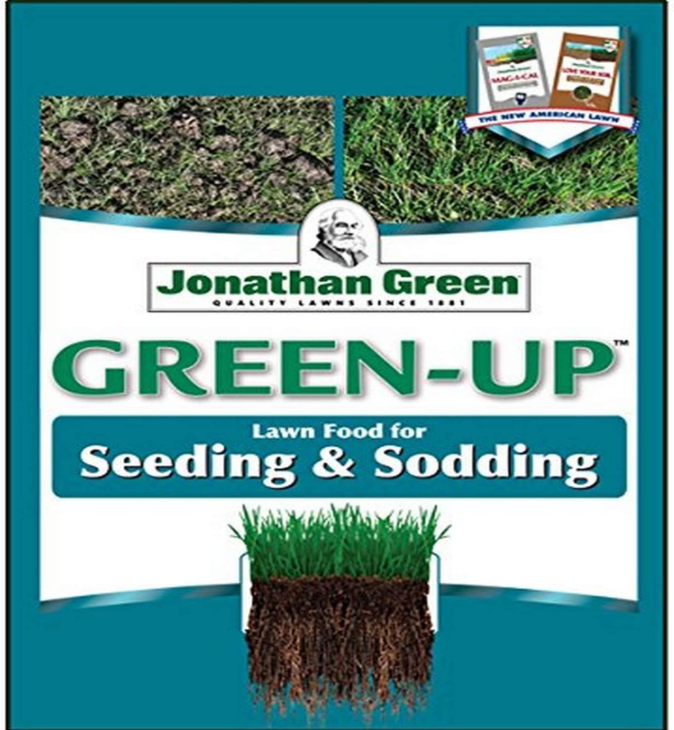 Jonathan Green & Sons, 11543 Green Up 12-18-8, Seeding & Sodding Lawn Fertilizer, 15000 sq. ft.