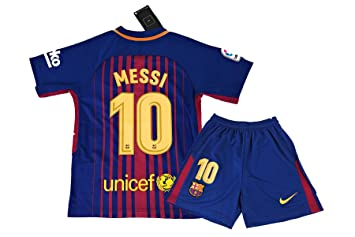 buy popular 2cf5f 4b731 Messi Jersey Youth #10 - 2017-2018 Home Jersey & Shorts for ...