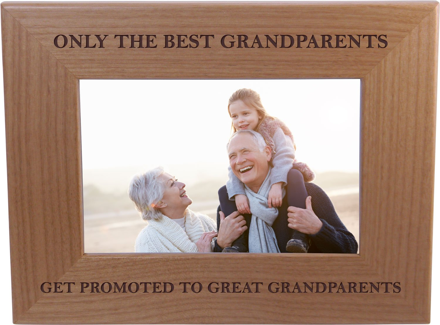 ukgiftstoreonline New Baby Pregnancy Scan Wooden Photo Frame Grandparents Gift 4 x 6 Inch