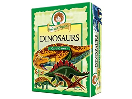 Professor Noggins Dinosaurs - A Educational Trivia Based Card Game For Kids - Features 30 Illustrated Cards Including 180 Questions and a 3-Number ...