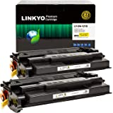 LINKYO Compatible Toner Cartridge Replacement for Canon 121 (Black, 2-Pack)